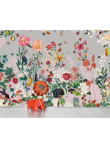 Papiers peints affiches moustache for Jardin gris wallpaper