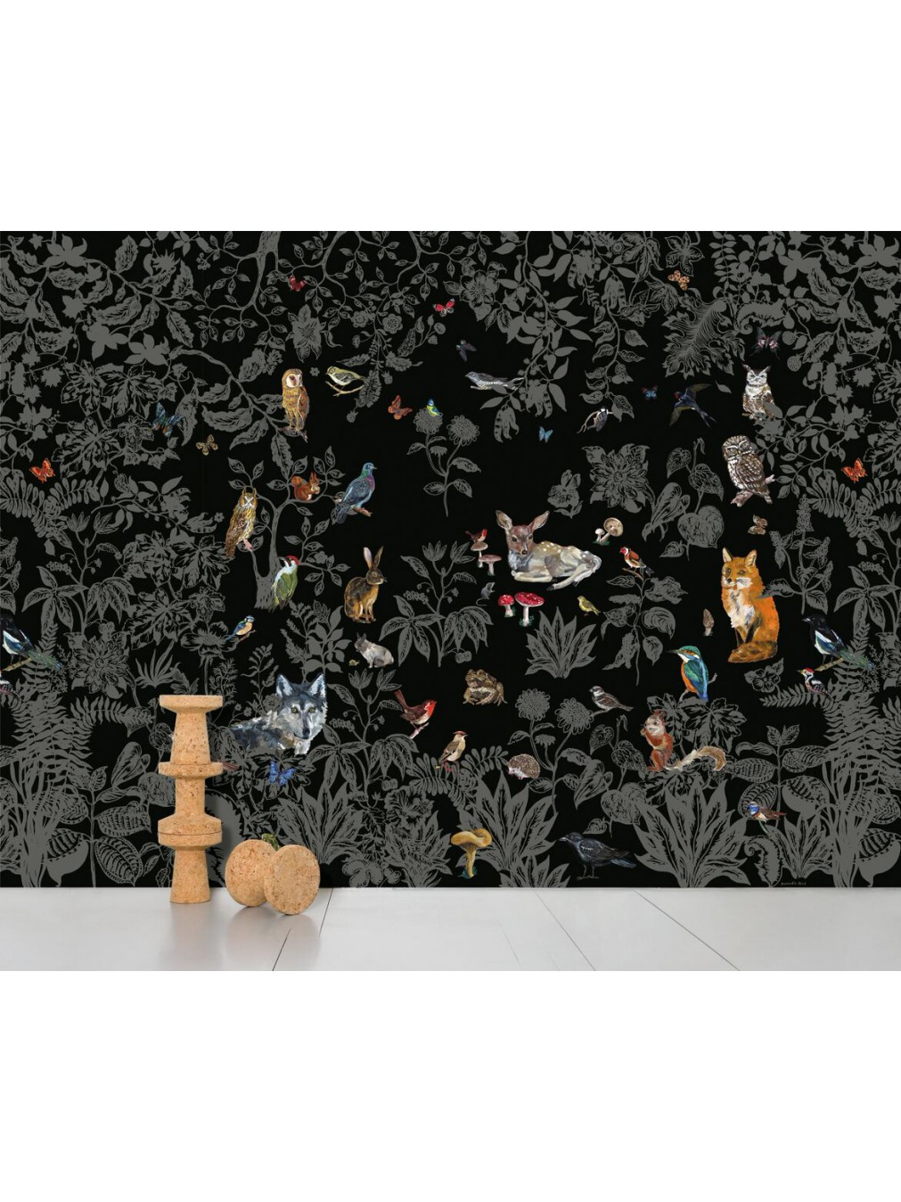 papiers peints affiches nathalie l t papier peint f ret noire moustache. Black Bedroom Furniture Sets. Home Design Ideas