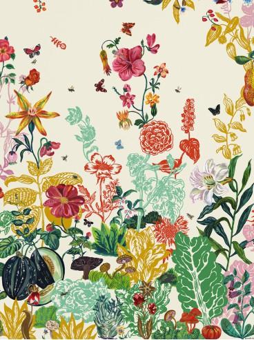 Wallpaper Jardin crème