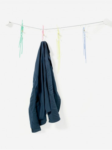 Slastic coat rack